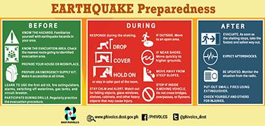 earthquake preparedness banner